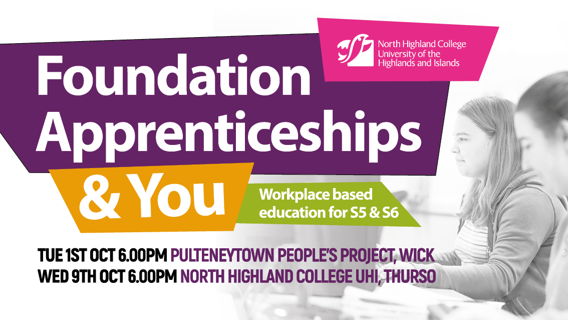 External Event - Foundation Apprenticeships and You @ Pulteneytown People's Project | Scotland | United Kingdom