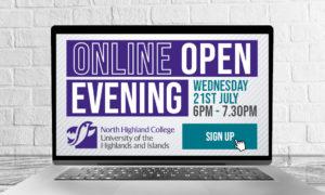 Online Open Evening at North Highland College UHI @ Online
